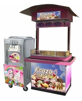 Soft Ice Cream Food Cart