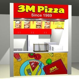 3m pizza booth type