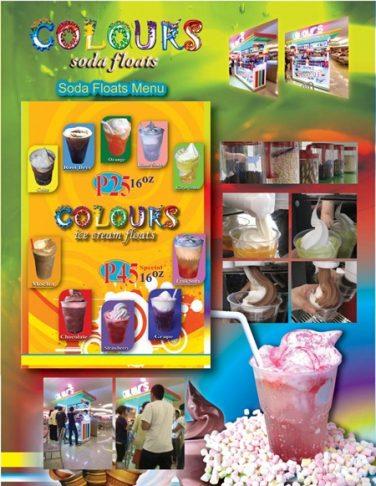 colours soda floats menu