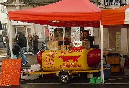 hotdog stand photo