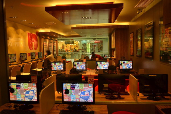 Inside Netopia Cyber Cafe