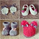 assorted shoes crochet