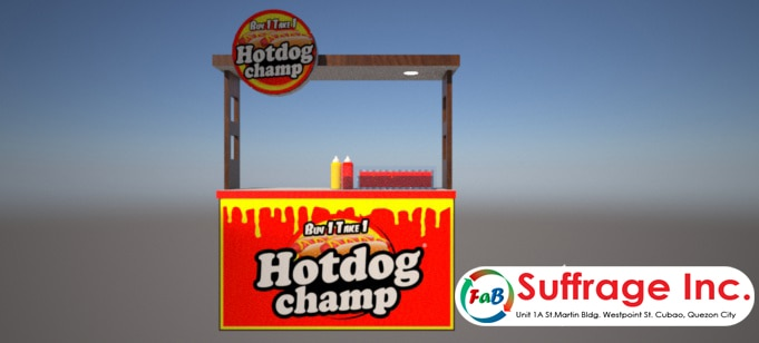 Hotdog champ food cart franchise