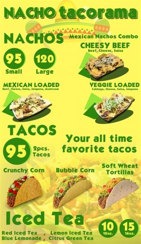 Nacho Tacorama Menu