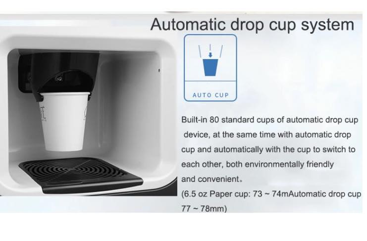 automatic drop cup coffee vending machine