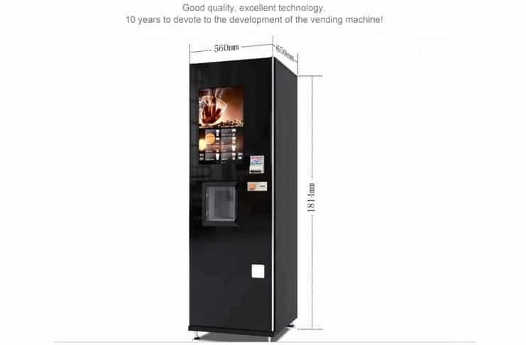 coffee machine size