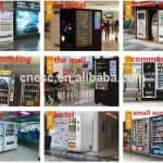 vending machines in operation