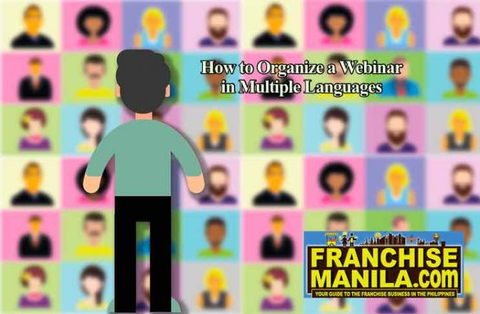 organize a webinar in multiple languages